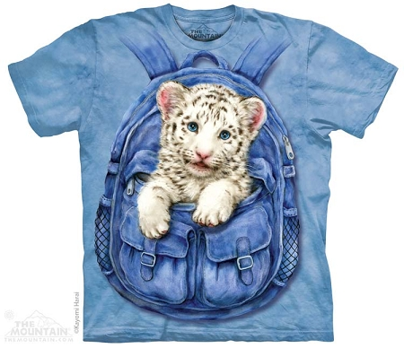 White Tiger Backpack - 15-3433 - Youth Tshirt