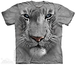 White Tiger Face - 15-3252 - Youth Tshirt