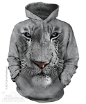 White Tiger Face - Adult Hoodie