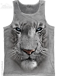 White Tiger Face - Adult Tank Top
