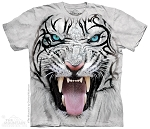 Big Face Tribal White Tiger - 15-3953 - Youth Tshirt