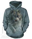 Wet And Wild White Tiger - Adult Hoodie