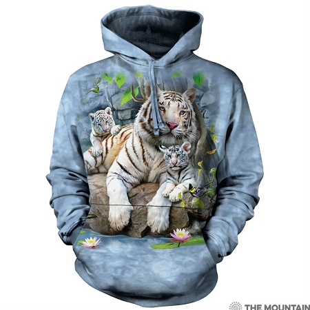 White Tigers of Bengal - 72-4135 - Adult Hoodie