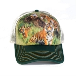 Wild Tiger Collage - 76-5888 - Trucker Hat