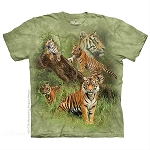 Wild Tiger Collage - 15-5888 - Youth Tshirt