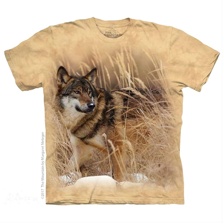 Winter Wolf Portrait - 10-5891 - Adult Tshirt