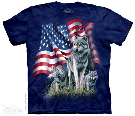 Wolf Flag - 10-1002 - Adult  T-shirt