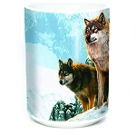 Wolf Couple Sunset - 57-5938-0901 - Everyday Coffee Mug