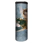 Wolf Couple Sunset - 59-5938 - Stainless Steel Barista Travel Mug