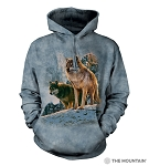 Wolf Couple Sunset - 72-5938 - Adult Hoodie
