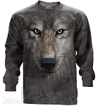 Wolf Face - Adult Long Sleeve T-shirt