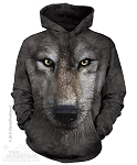 Wolf Face - 72-3249 - Adult Hoodie