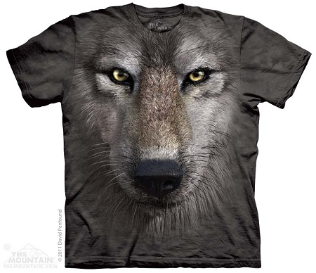 Wolf Face - 10-3249 - Adult Tshirt