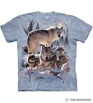 Wolf Family Mountain - 10-6283 - Adult Tshirt
