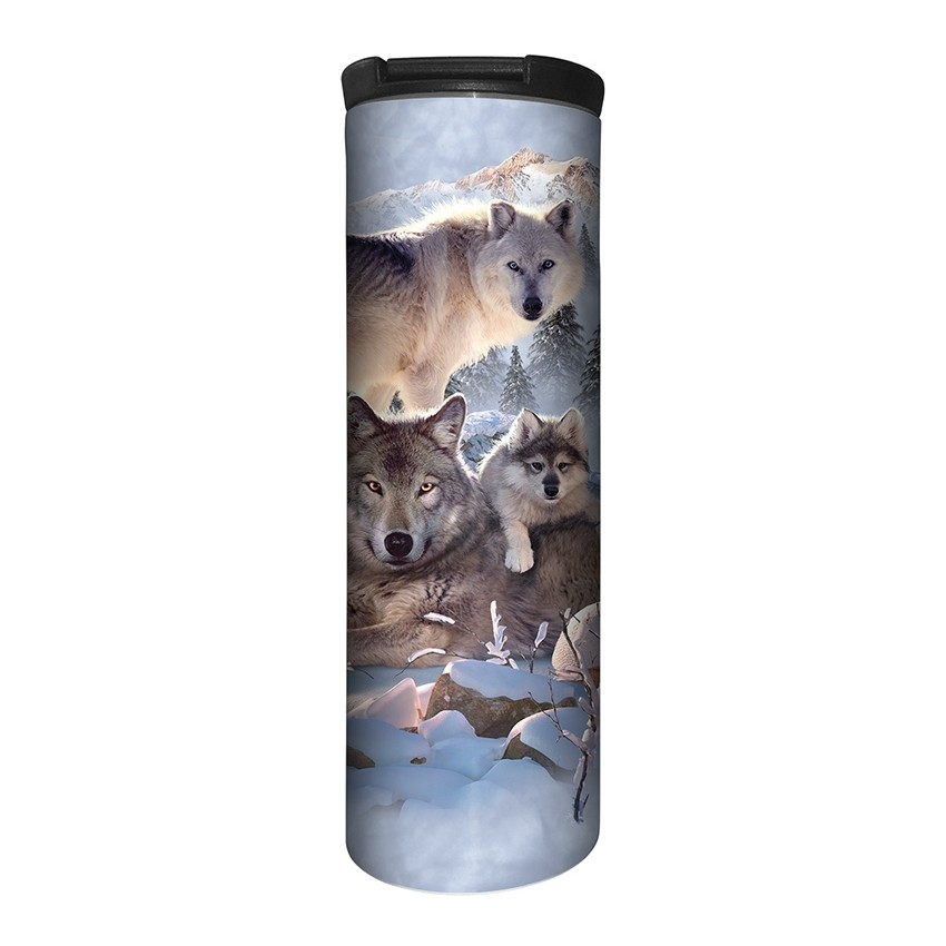 Wolf Family Mountain - 59-6283 - Stainless Steel Barista Travel Mug