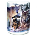 Wolf Family Mountain - 57-6283-0901 - Coffee Mug