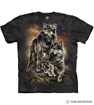 Wolf Family Sunrise - 10-6282 - Adult Tshirt
