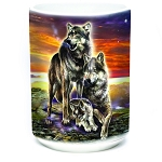 Wolf Family Sunrise - 57-6282-0900 - Coffee Mug