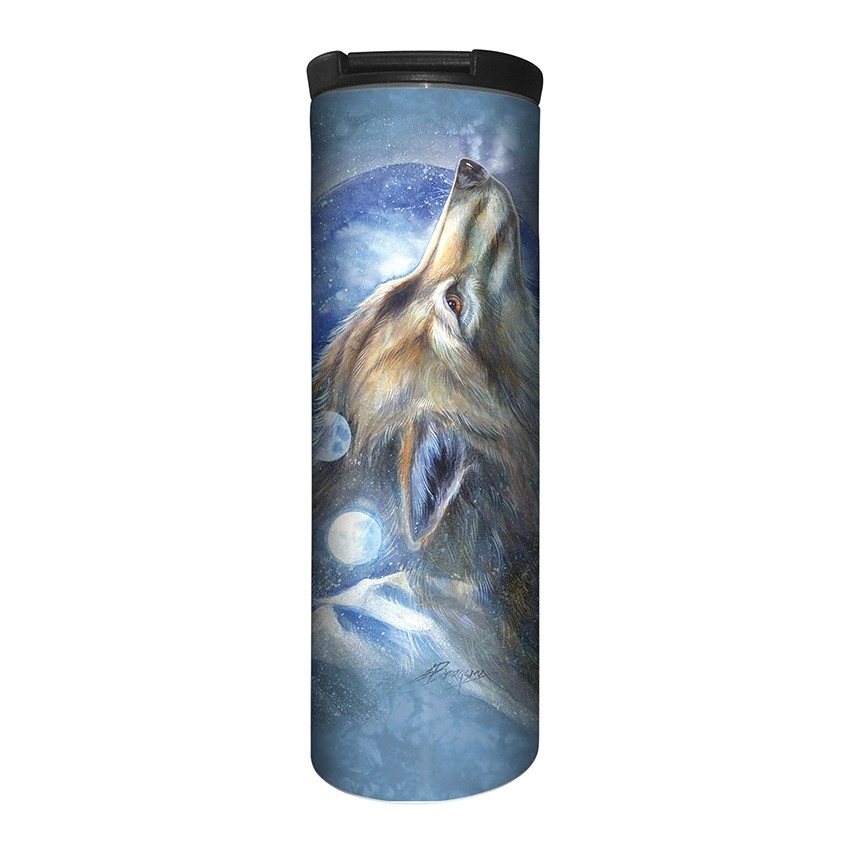Wolf Howl - 59-6280 - Stainless Steel Barista Travel Mug