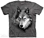Wolf Portrait - 15-1238 - Youth Tshirt