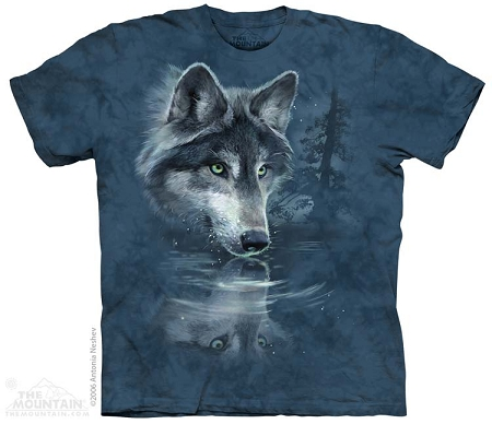 Wolf Reflection - 15-1850 - Youth Tshirt