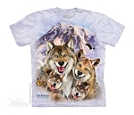 Wolf Selfie - 15-4999 - Youth Tshirt