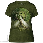 Yin Yang Tree - 28-3209 - Ladies Fitted Tee