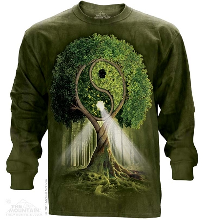 Yin Yang Tree - 45-3209 - Adult Long Sleeve T-shirt