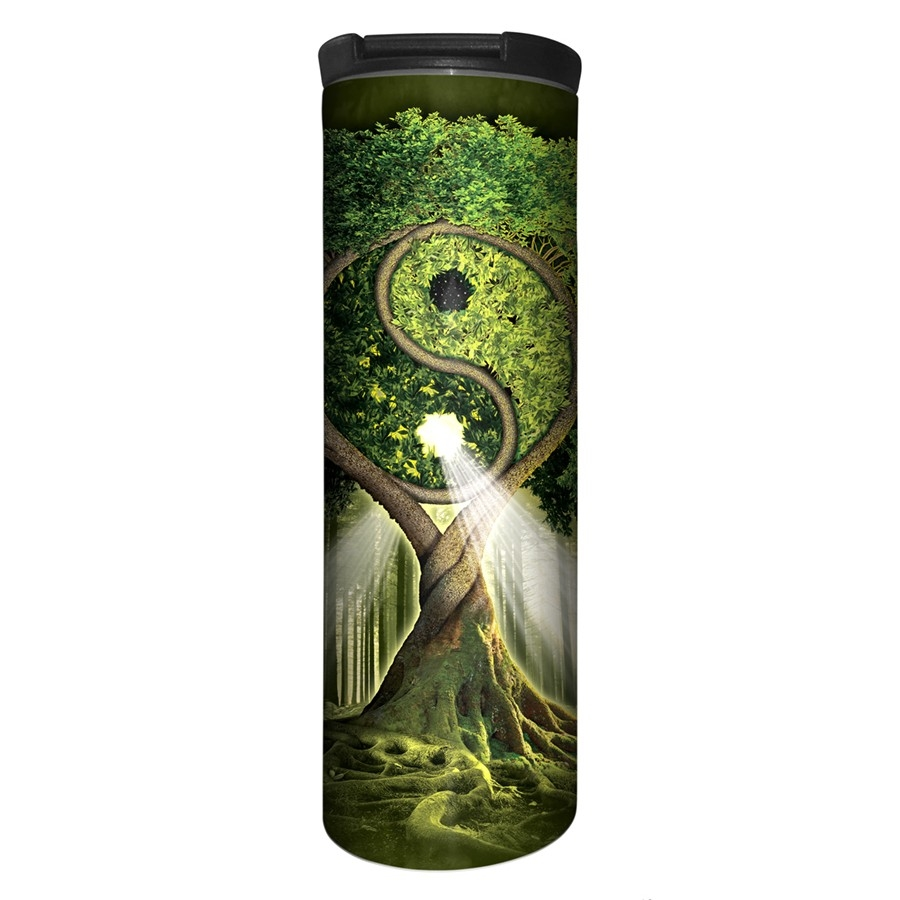 Yin Yang Tree - 59-3209 - Stainless Steel Barista Travel Mug
