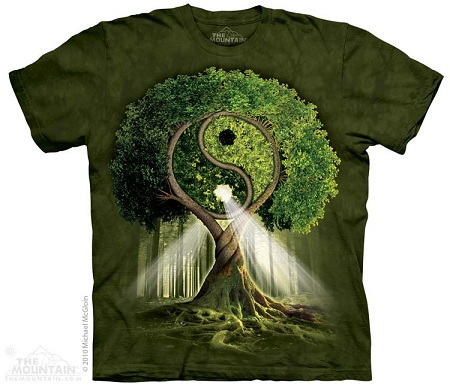 Yin Yang Tree - 10-3209 - Adult Tshirt