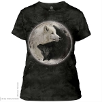 Yin Yang Wolves - 28-3922 - Ladies Fitted Tee