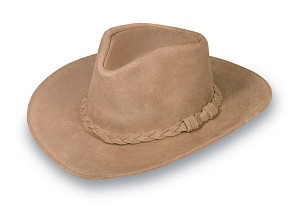 Minnetonka 9501 - Outback Hat - Tan Rough Leather