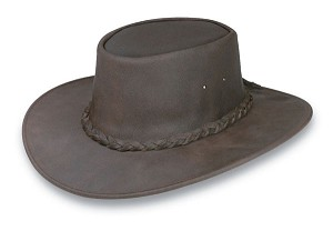 Minnetonka 9523 - Western Fold Up Hat - Dark Brown Leather