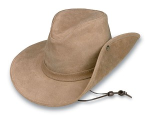 Minnetonka 9541 - Aussie Hat with Side Snap - Tan Rough Leather