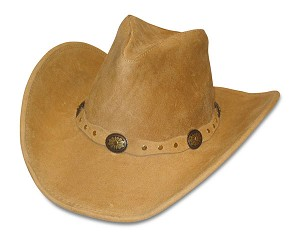 Minnetonka 9611 - Silverton Dude Hat - Tan Rough Leather