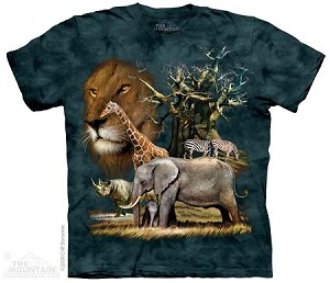 African Animal Collage - Youth Tshirt