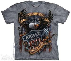 Armed Forces - Strong And Free - 10-4886 - Adult Tshirt