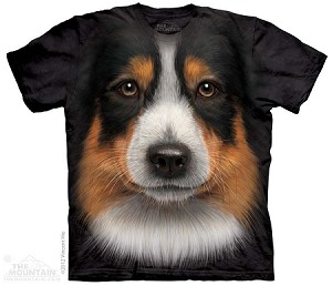 Australian Shepherd Face - Youth Tshirt