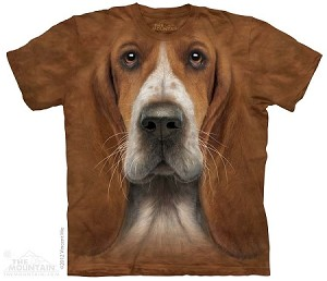 Basset Hound Head - Adult Tshirt