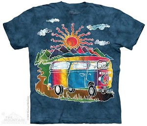 Batik VW Tour Bus - Adult Tshirt