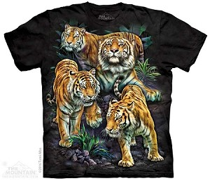 Bengal Tiger Collage - 10-4345 - Adult Tshirt