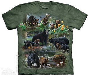 Black Bear Collage - Adult Tshirt - 10-4969