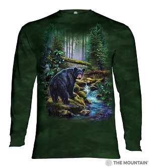 Black Bear Forest - 45-6164 - Adult Long Sleeve T-shirt