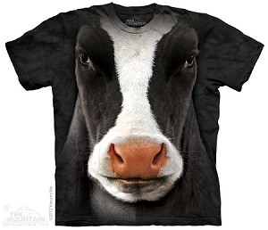 Black Cow Face - 10-3347 - Adult Tshirt