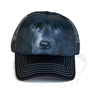 Black Lab Portrait - 76-3255 - Trucker Hat