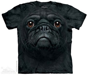 Black Pug Face - Adult Tshirt