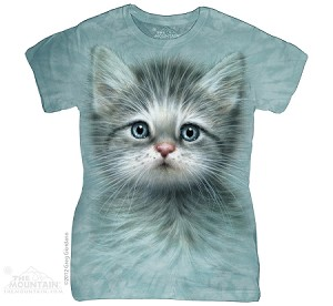 Blue Eyed Kitten - Ladies Fitted Tee