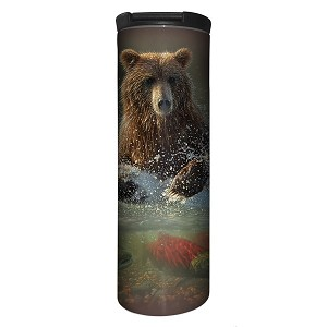 Brown Bear Lucky Fishing Hole - 59-6165 - Stainless Steel Barista Travel Mug