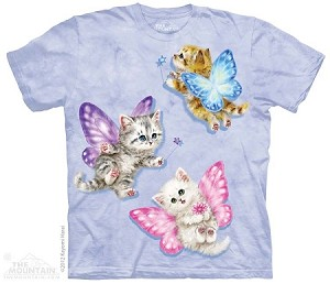 Butterfly Kitten Fairies - Adult Tshirt