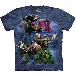 Canadian Moose Collage - 10-6124 - Adult Tshirt